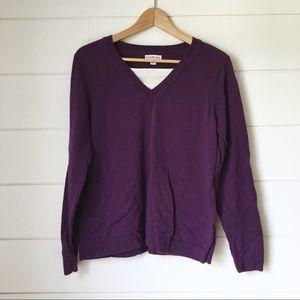 CROFT & BARROW Purple Sweater
